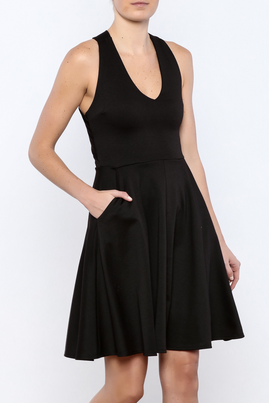 Apricity Black Solstice Dress - Front Cropped Image