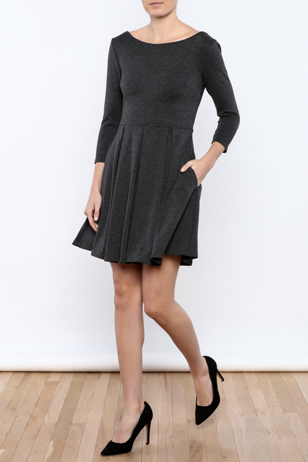 Apricity Charcoal December Dress - Front Full Image