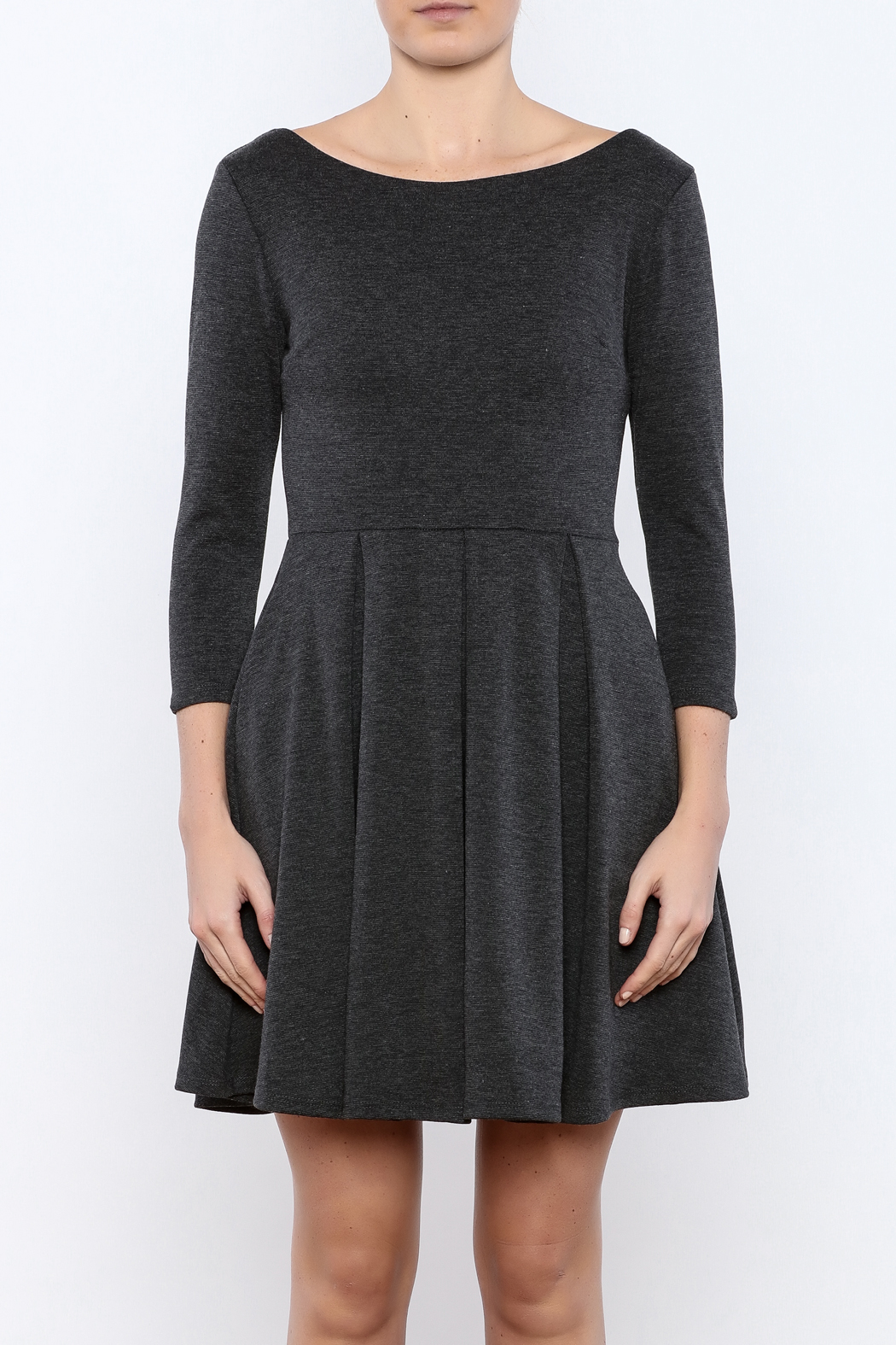 Apricity Charcoal December Dress - Side Cropped Image