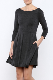 Apricity Charcoal December Dress - Front cropped