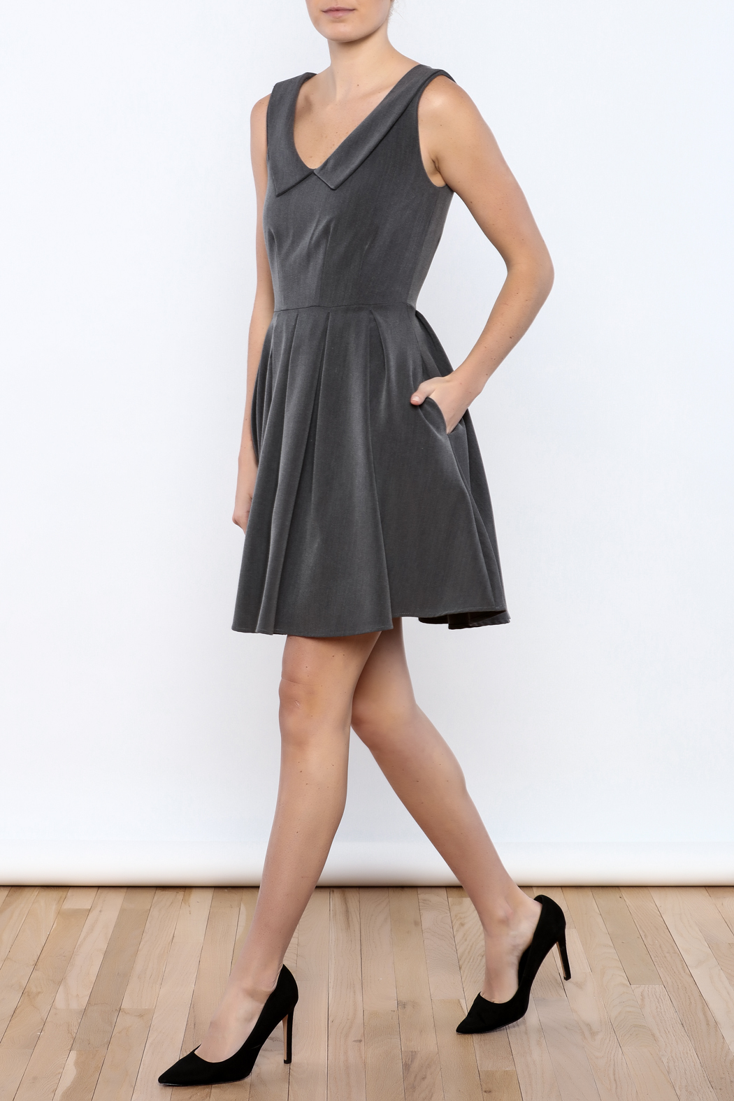 Apricity Charcoal Sunday Dress - Front Full Image