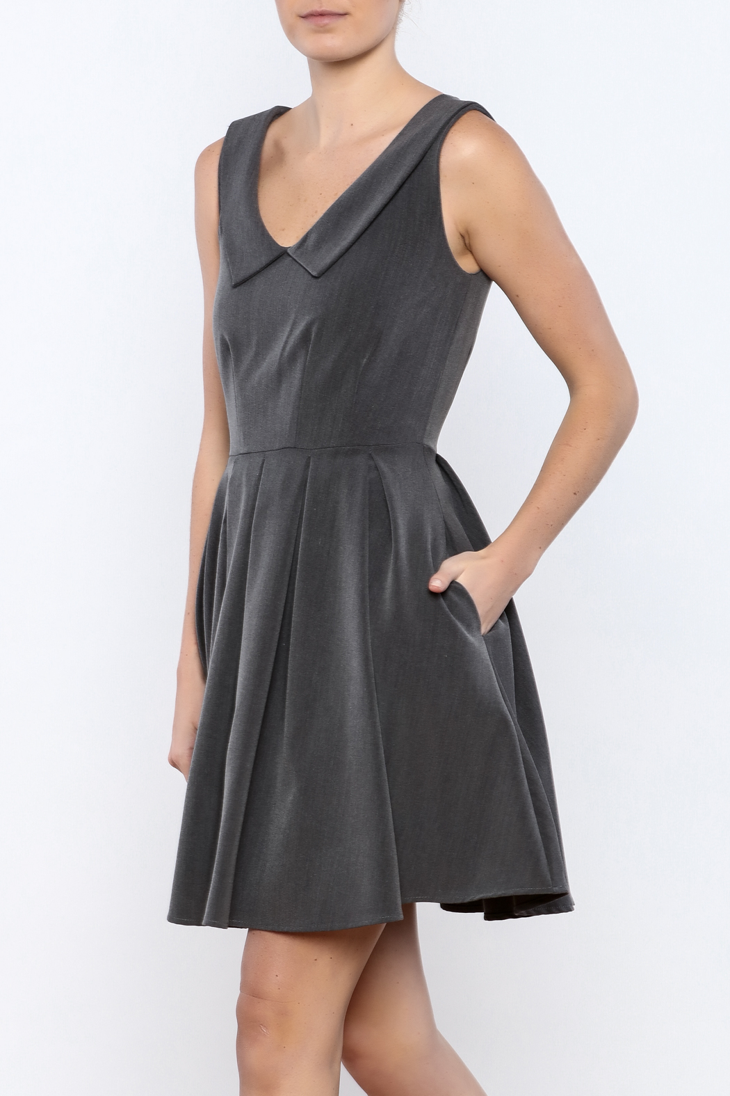 Apricity Charcoal Sunday Dress - Main Image
