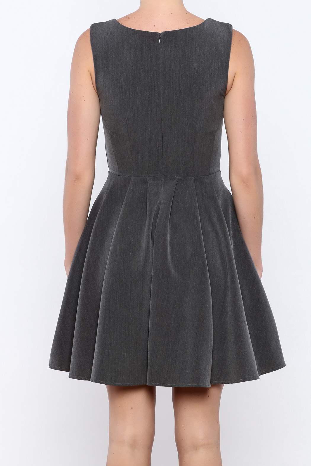 Apricity Charcoal Sunday Dress - Back Cropped Image