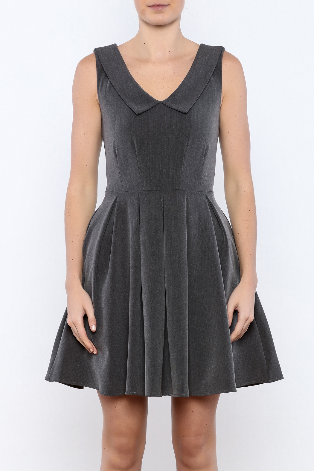 Apricity Charcoal Sunday Dress - Side Cropped Image