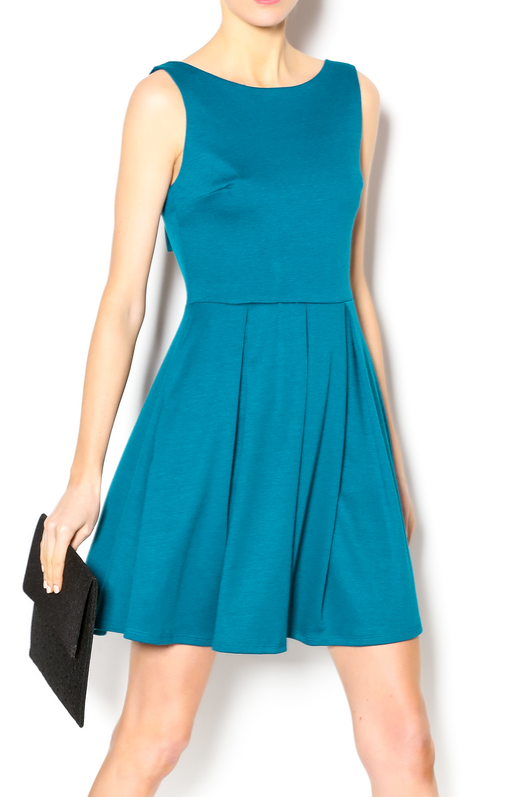 Apricity January Bow Dress - Front Cropped Image