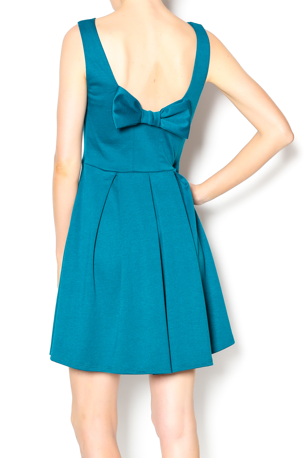 Apricity January Bow Dress - Back Cropped Image