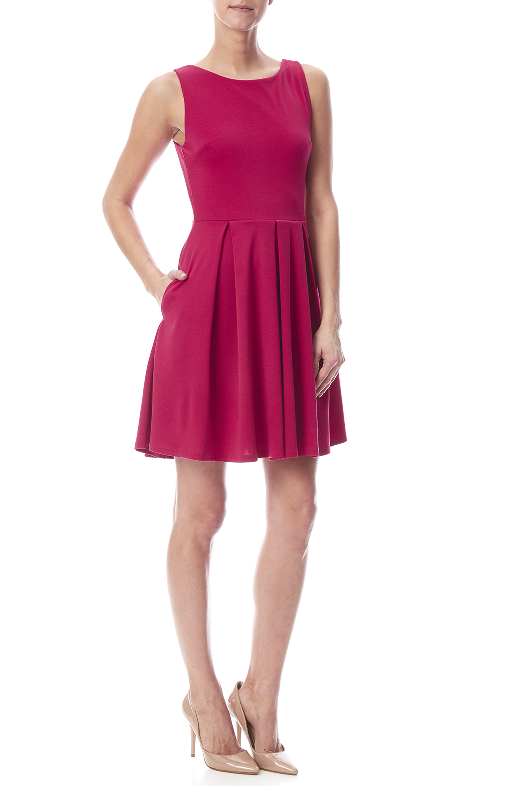 Apricity January Dress Fuchsia - Front Full Image