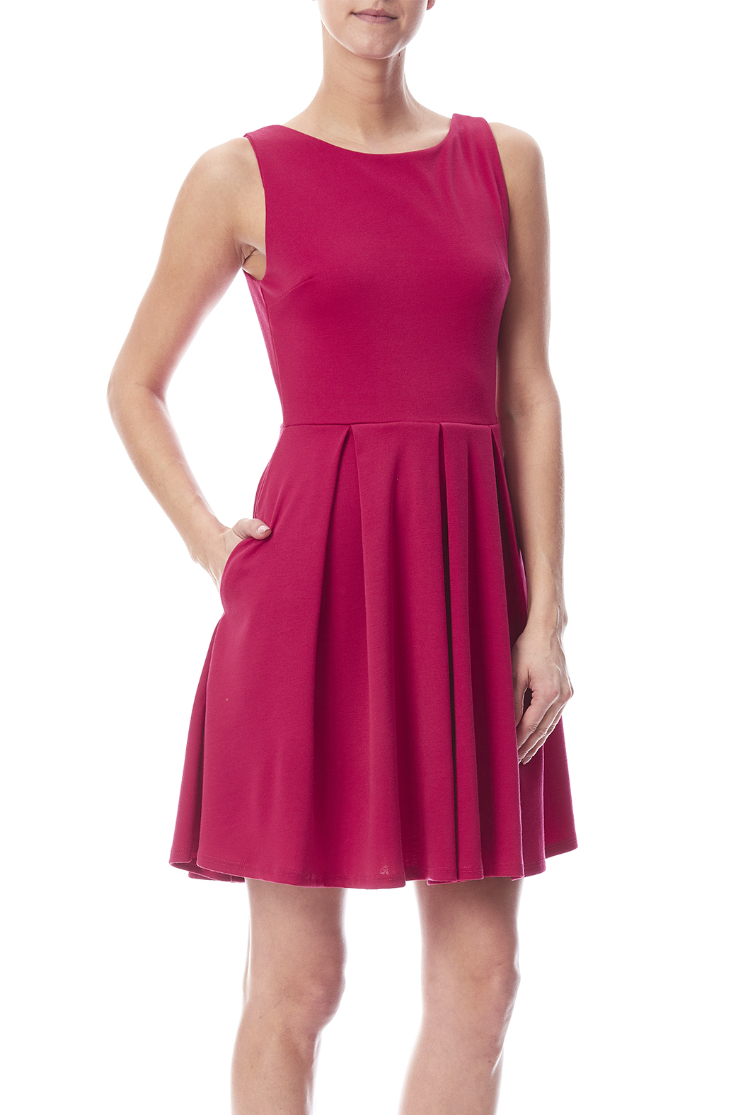 Apricity January Dress Fuchsia - Front Cropped Image