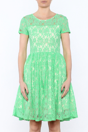 Apricity Mint Lace Dress - Side cropped