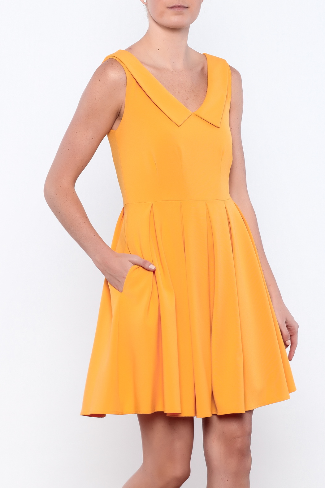Apricity Mustard Sunday Dress - Main Image
