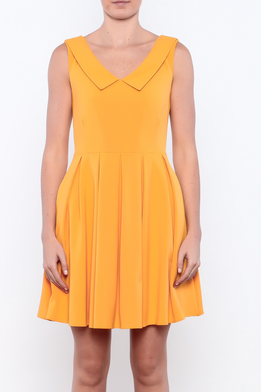 Apricity Mustard Sunday Dress - Side Cropped Image