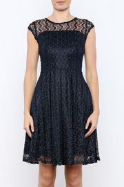 Shoptiques Product: Navy Gossamer Dress - Side cropped