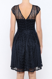 Shoptiques Product: Navy Gossamer Dress - Back cropped