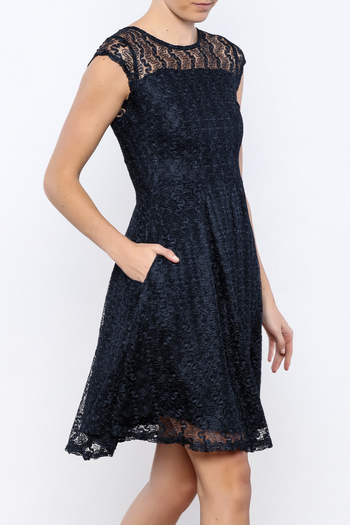Shoptiques Product: Navy Gossamer Dress - main