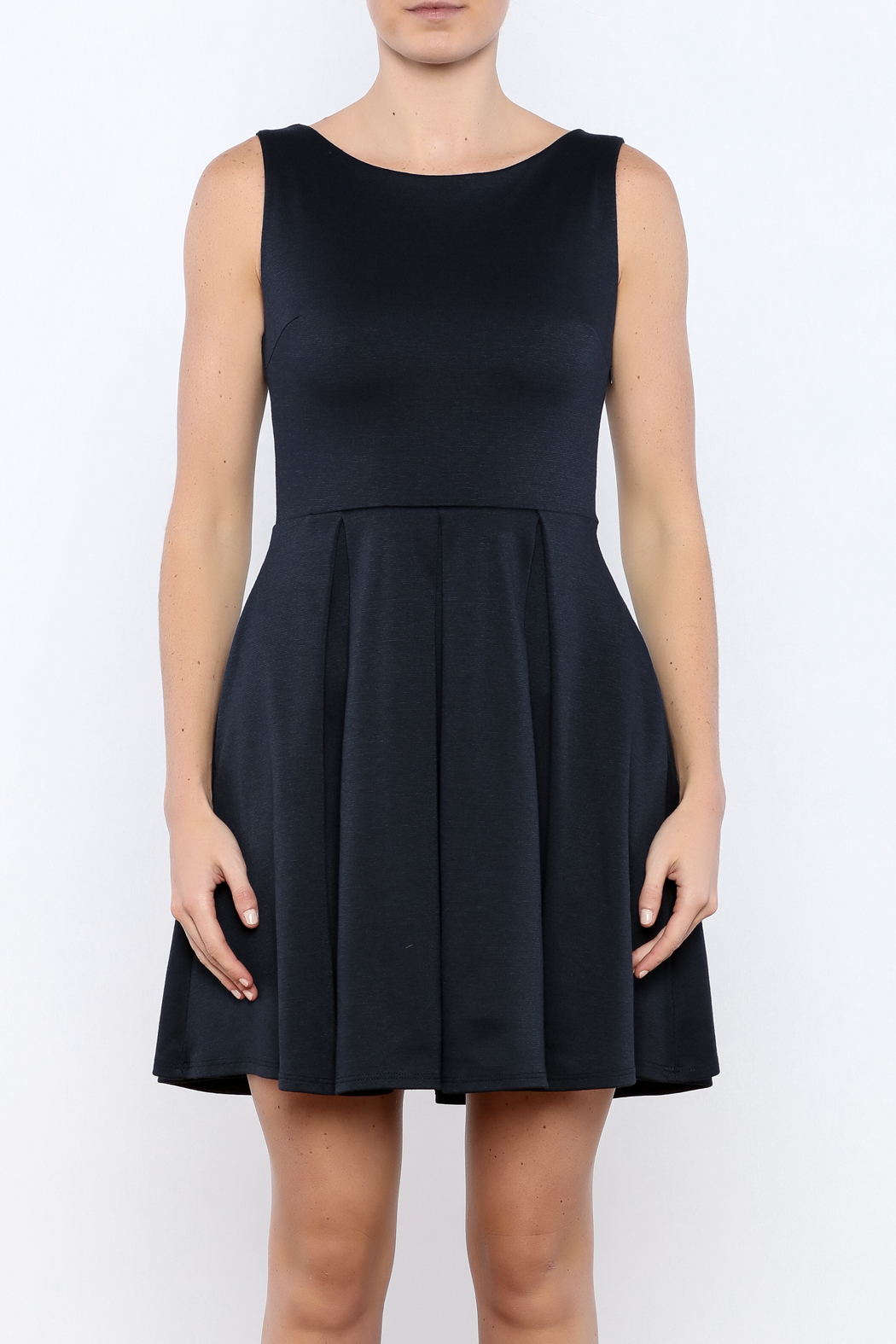 Apricity Navy January Dress - Side Cropped Image