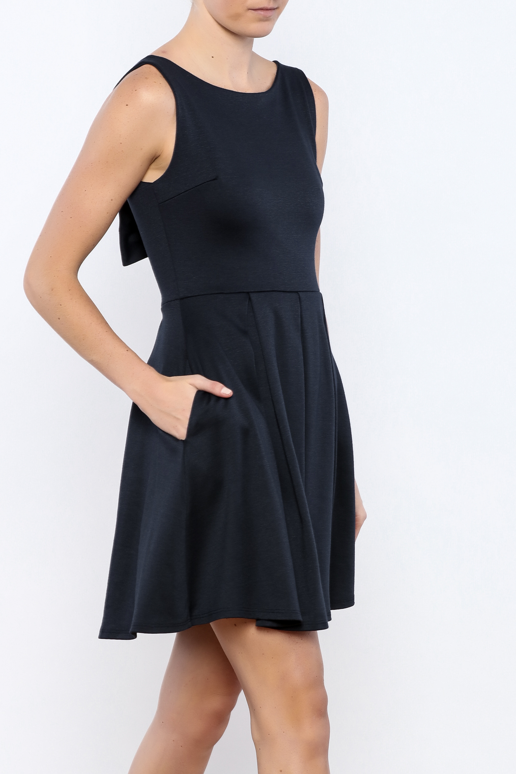Apricity Navy January Dress - Front Cropped Image