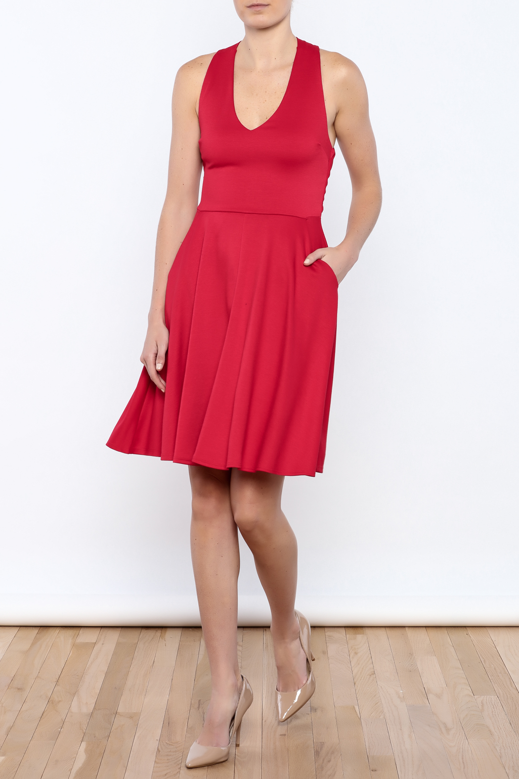 Apricity Red Solstice Dress - Front Full Image