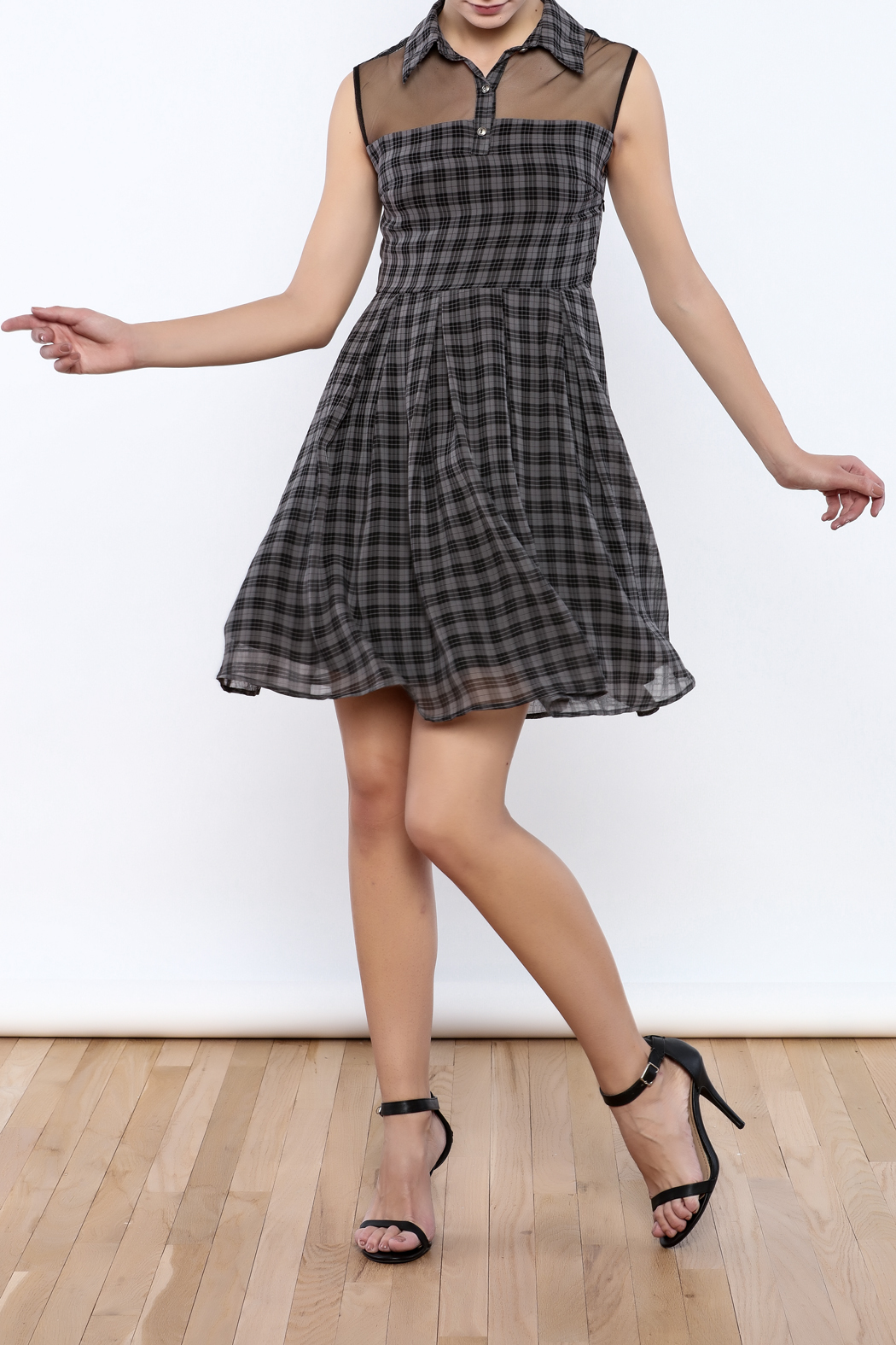 Apricity Willow Check Dress - Front Full Image