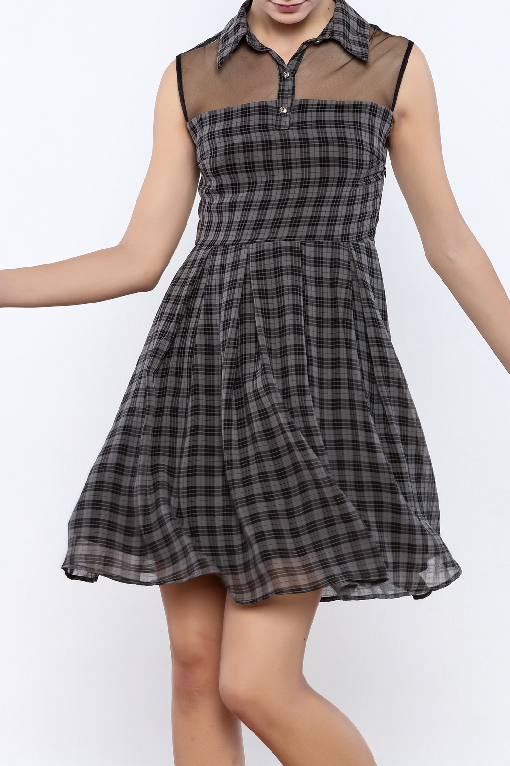 Apricity Willow Check Dress - Main Image