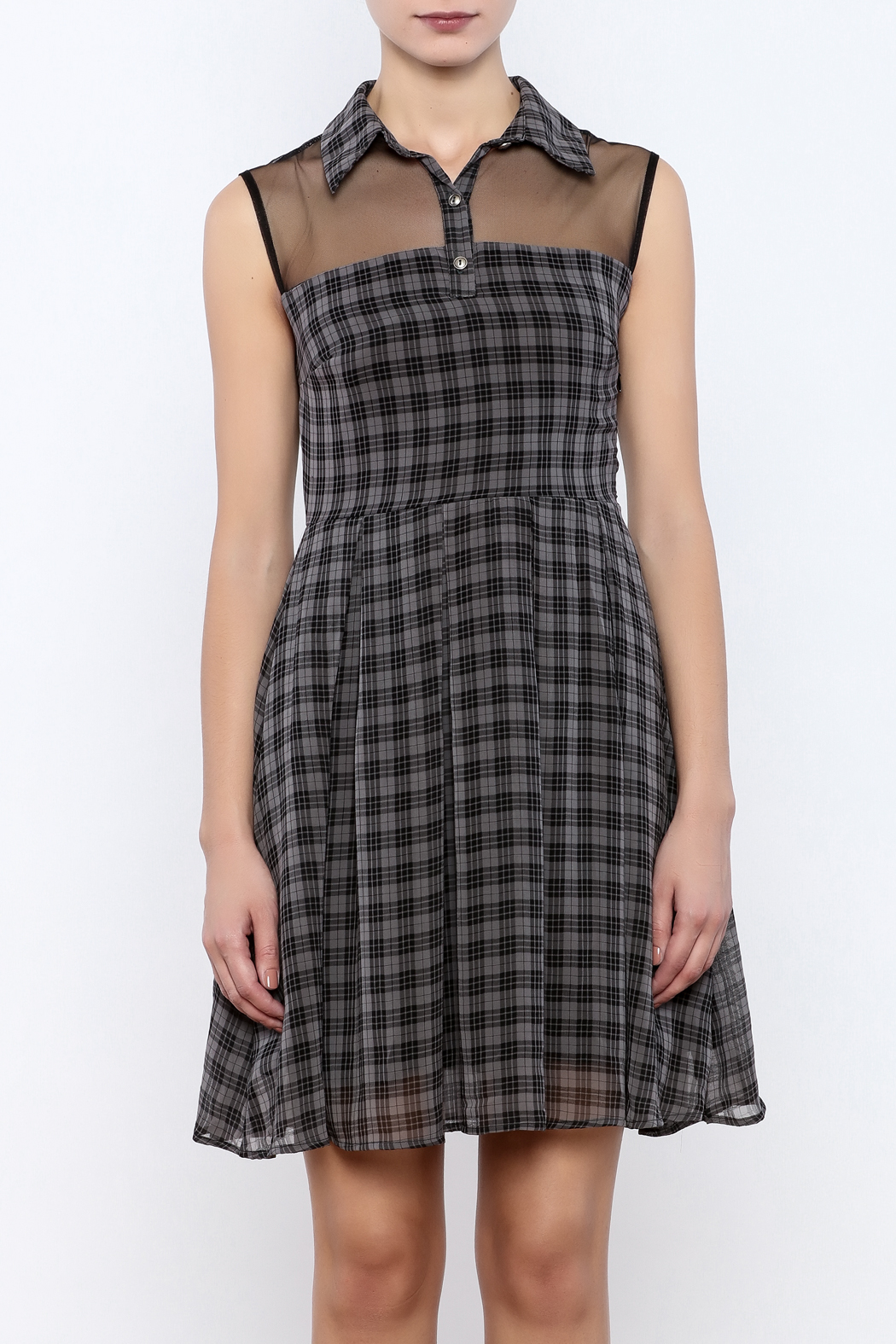 Apricity Willow Check Dress - Side Cropped Image