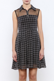 Apricity Willow Check Dress - Side cropped