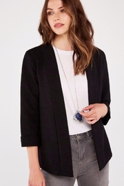 Apricot Boucle Open Front Blazer - Front cropped