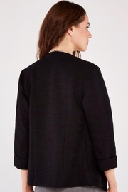 Apricot Boucle Open Front Blazer - Front full body