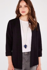 Apricot Boucle Open Front Blazer - Side cropped