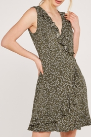 Apricot Ditsy Floral Dress - Side cropped
