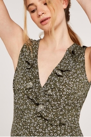 Apricot Ditsy Floral Dress - Back cropped