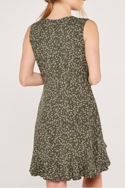 Apricot Ditsy Floral Dress - Front full body