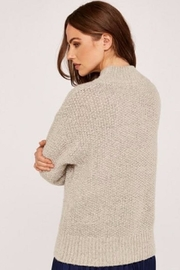 Apricot Cable Knit Sweater - Side cropped