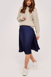 Apricot Cable Knit Sweater - Front full body