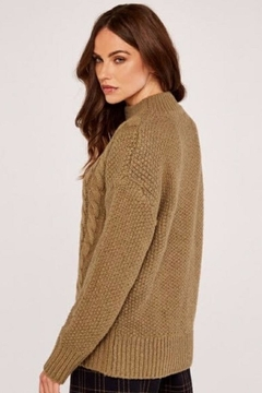 Apricot Cable Knit Sweater - Alternate List Image