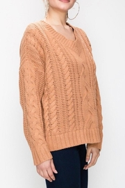 Favlux Apricot Cable-Knit Sweater - Side cropped