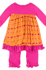 Kickee Pants Apricot Chickens Dress Romper - Product Mini Image