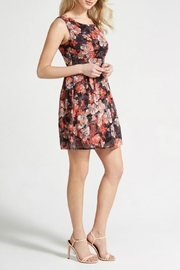 Apricot Coral Floral Dress - Product Mini Image