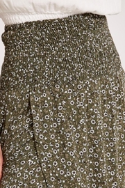 Apricot Ditsy Floral Wrap Skirt - Front full body