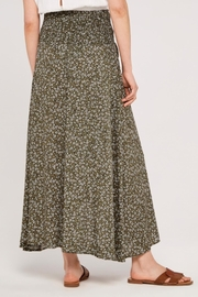 Apricot Ditsy Floral Wrap Skirt - Side cropped
