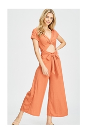 Polly & Esther Apricot Key-Hole Jumpsuit - Product Mini Image