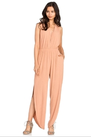 Dance & Marvel Apricot Knit Jumpsuit - Product Mini Image