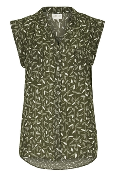 Apricot Leafy Print Top - Product List Image
