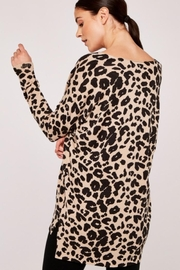 Apricot Leopard Print Soft Knit - Front full body
