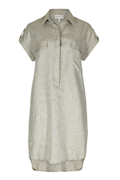 Apricot Linen Shirt Dress - Alternate List Image