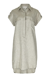Apricot Linen Shirt Dress - Product Mini Image
