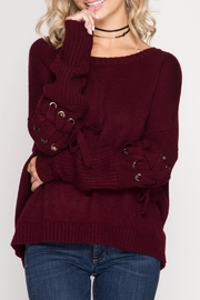 Apricot Lane Tied Up Sweater - Front cropped