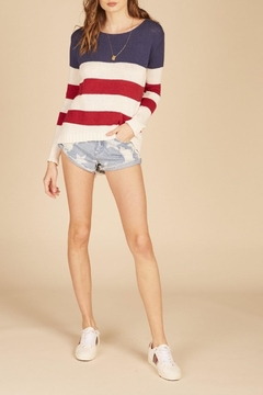 Apricot Lane American Flag Sweater - Product List Image