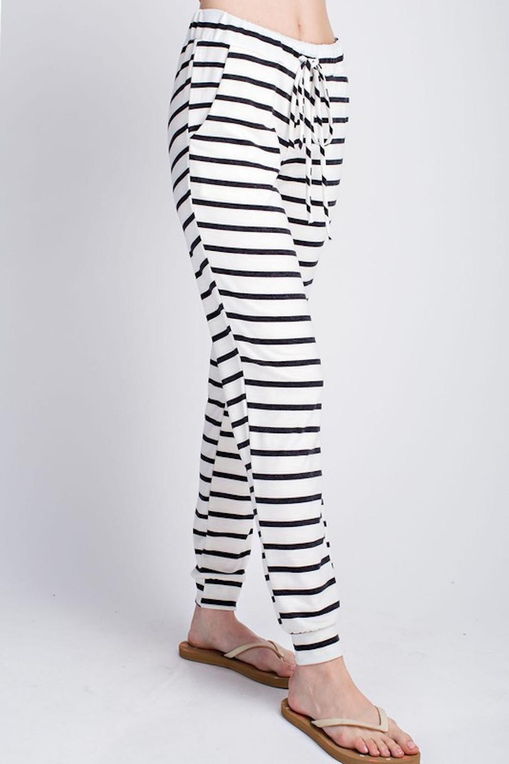 Apricot Lane Behind Bars Pants - Front Full Image
