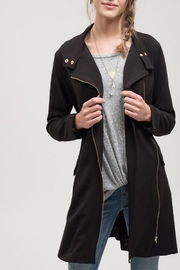 Apricot Lane Black Lightweight Jacket - Front cropped