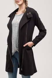 Apricot Lane Black Lightweight Jacket - Front full body